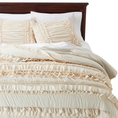 Belle Ruffle Comforter Set 4 Piece - Lush Decor® - image 1 of 2