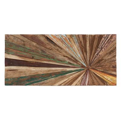 Wooden Decorative Wall Abstract 18 X 39 - Olivia & May