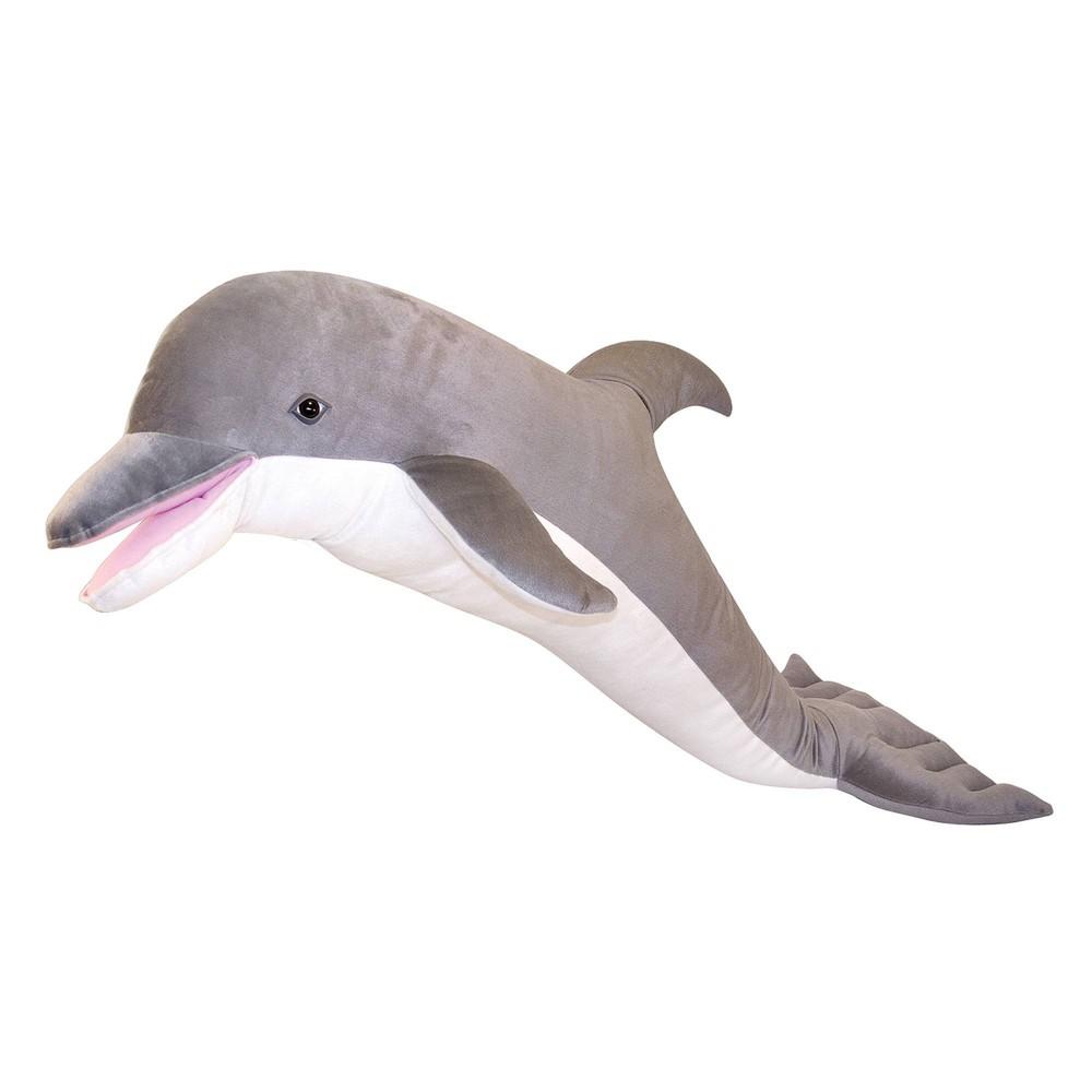Melissa 38 Doug Giant Dolphin Lifelike Stuffed Animal Nearly 4 Feet Long