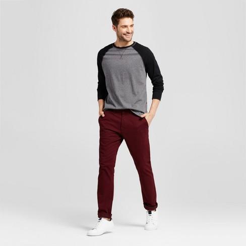 Men s Standard Fit Long Sleeve Raglan Color Block Crew T-Shirt - Goodfellow    Co™   Target 4a3314288b3