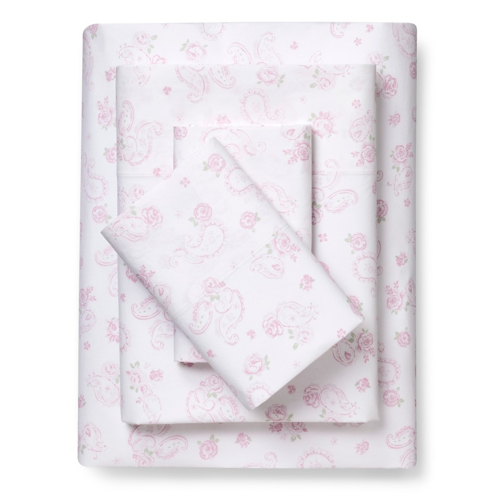 Paisley Sheet Set (Full) Pink - Simply Shabby Chic, Pink Paisley