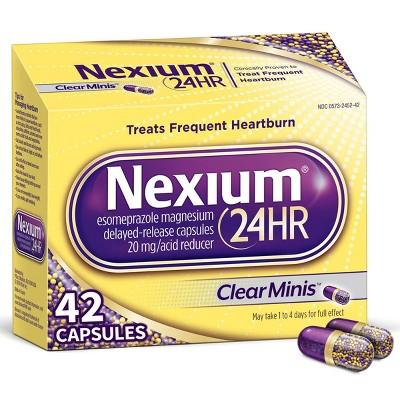 Nexium 24HR ClearMinis Delayed Release Heartburn Relief Capsules, Esomeprazole Magnesium Acid Reducer