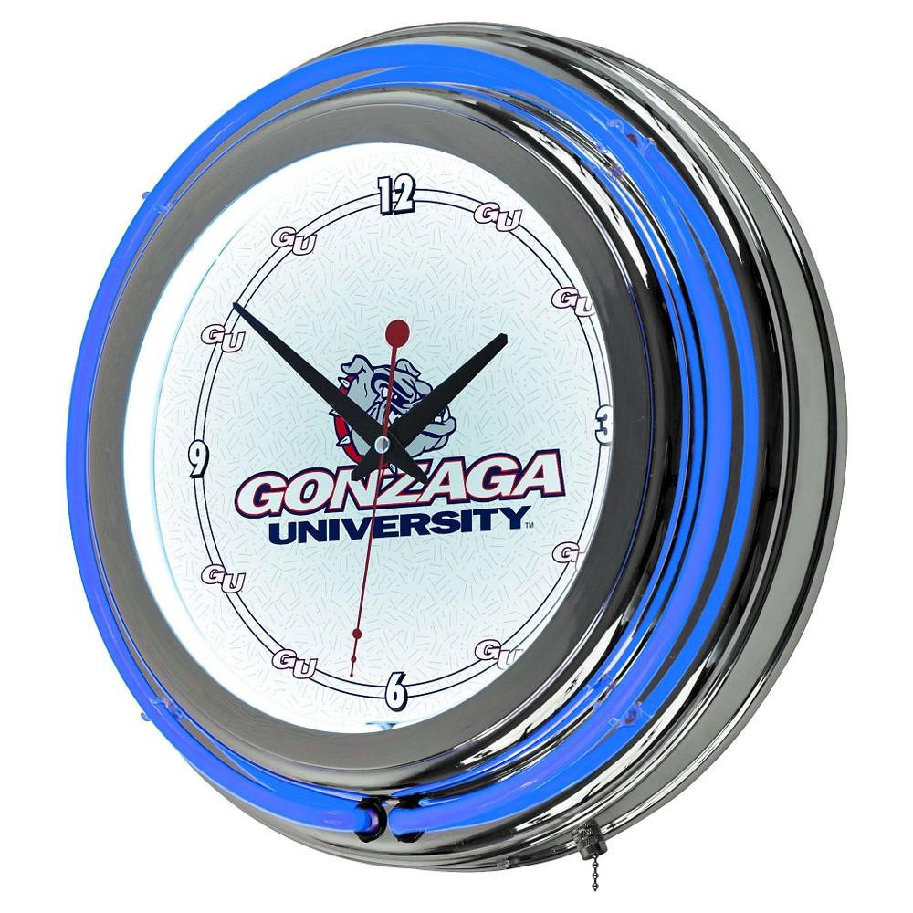 NCAA Gonzaga Bulldogs Neon Clock - 14