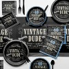 8ct Vintage Dude 40th Birthday Invitations - image 2 of 2