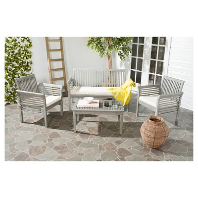 Paros 4 Piece Patio Conversation Set   Safavieh® : Target
