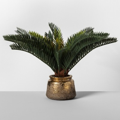 21  x 12  Artificial Potted Tropical Palm Green/Gold - Opalhouse™