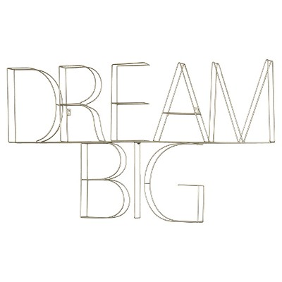 Dream Big Wire Wall Décor (39 x25 )Silver - Pillowfort™