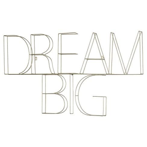 Dream Big Wire Wall Dcor 39 X25 Silver Pillowfort