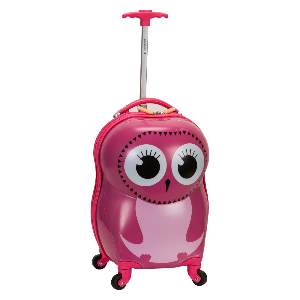 Rockland 17 34 Kids 39 Carry On Spinner Suitcase Owl
