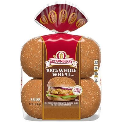 Brownberry 100% Whole Wheat Hamburger Buns - 16oz