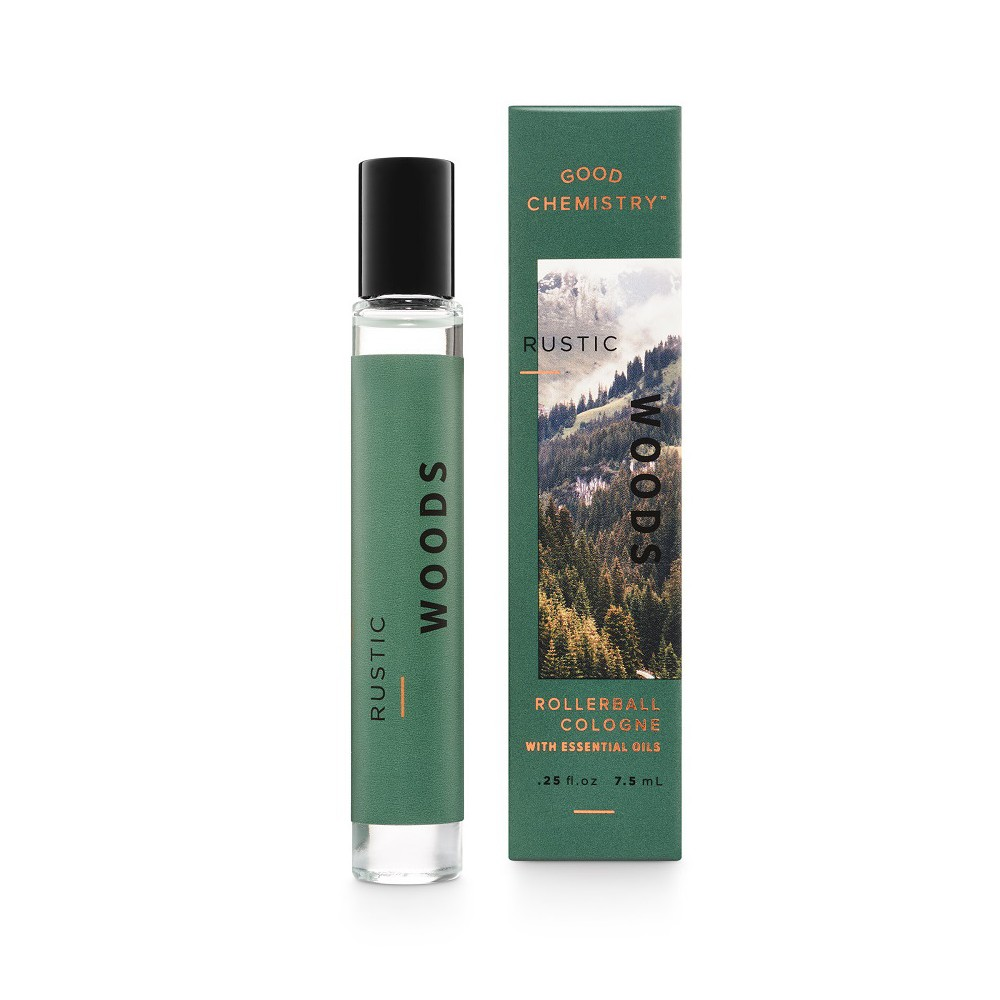 Rustic Woods by Good Chemistry Eau de Parfum Unisex Rollerball - .25 fl oz.
