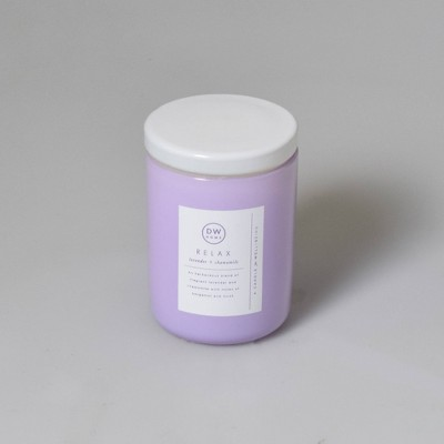 4oz Wellness Spa/Relax Lavender and Chamomile Candle - DW Home