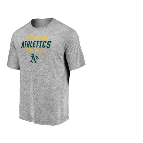 MLB Oakland Athletics Men's Mad Dash Gray Athleisure T-Shirt - image 1 of 3