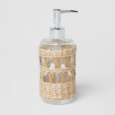 Woven and Glass Soap Pump Natural - Threshold™