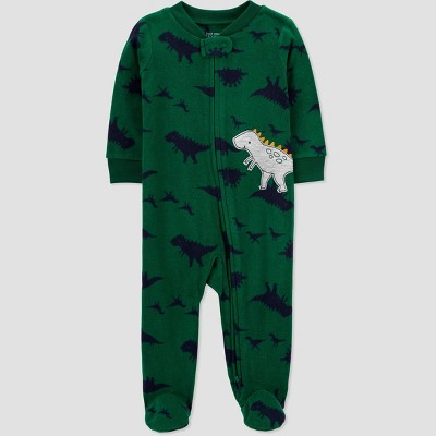 Baby Boys' Dino Fleece Sleep N' Play - Just One You® made by carter's Green 3M
