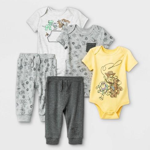 Baby Boys' 5pk Disney Toy Story Short Sleeve Bodysuit - image 1 of 1