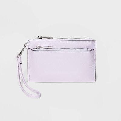 Zip Closure Wristlet Pouch - A New Day™ Lilac