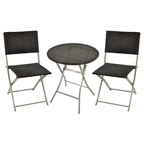 wicker 3pc bistro patio set threshold - Bistro Patio Set