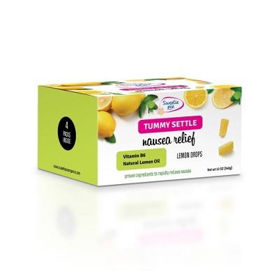 Sweetie Pie Organics Tummy Settle Nausea Relief Lemon Drops - 4pk
