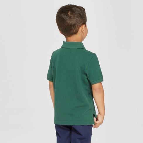 94b13eb41 Toddler Boys' Short Sleeve Pique Uniform Polo Shirt - Cat & Jack™ Green 4T  : Target