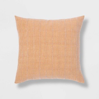 Woven Washed Windowpane Pillow - Threshold™