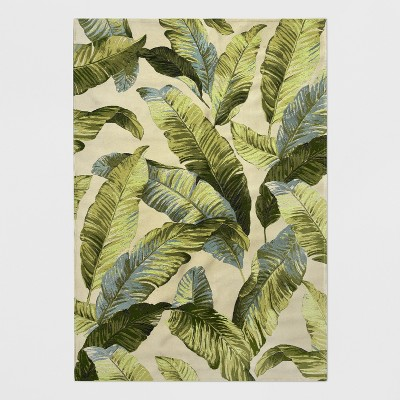 7' x 10' Vacation Tropical Outdoor Rug Green - Threshold™