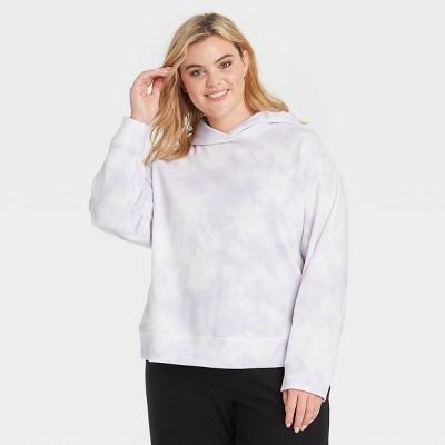 Women's Plus Size Hooded Sweatshirt - A New Day™ Light Purple 3X