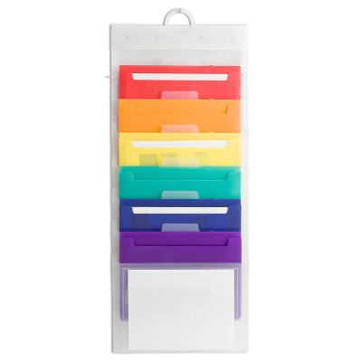 U Brands Cascading File Wall Organizer with 6 Removable Folders
