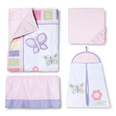 Sweet Jojo Designs Crib Bedding Set - Pink & Lavender Butterfly - 11pc
