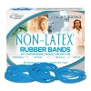 Alliance Non Latex Antimicrobial Cyan Blue Rubber Bands, Size #33, 3-1/2 x 1/8, 1/4lb Box - image 2 of 3