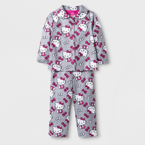 d06878134 Toddler Girls  Hello Kitty 2pc Coat Pajama Set -...   Target