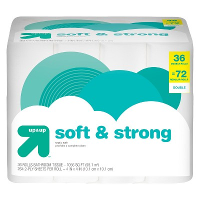 Soft & Strong Toilet Paper - 36 Double Rolls - Up&Up™