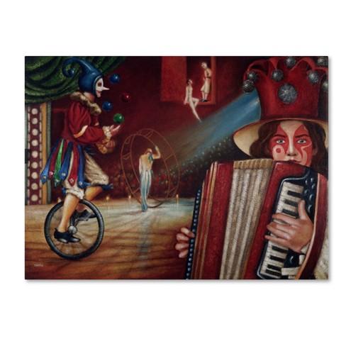 "Trademark Fine Art 24"" x 32"" Edgar Barrios 'Spectator' Canvas Art - image 1 of 3"