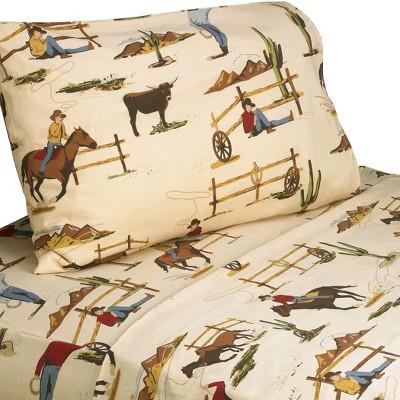 Sweet Jojo Designs Wild West Sheet Set - Horse Print (Twin)