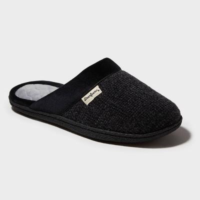 Women's Dearfoams Chenille Scuff Slide Slippers - Black M (7-8)