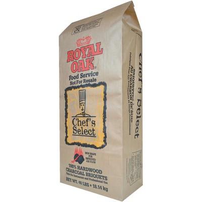 Royal Oak Grill Chef's Select Premium Hardwood Charcoal Briquettes, 40 Pound Bag