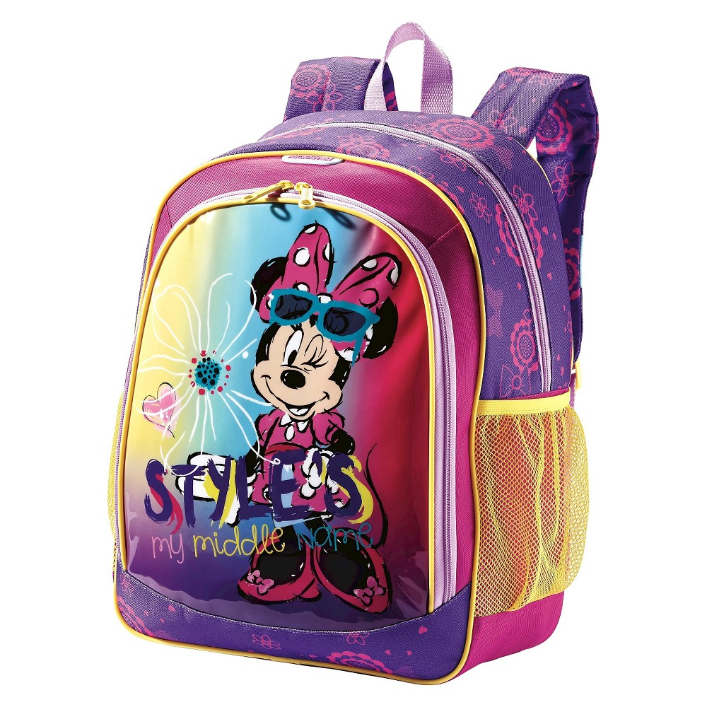 American Tourister Disney 16 Minnie Mouse Kids' Backpack - Purple, Multi-Colored