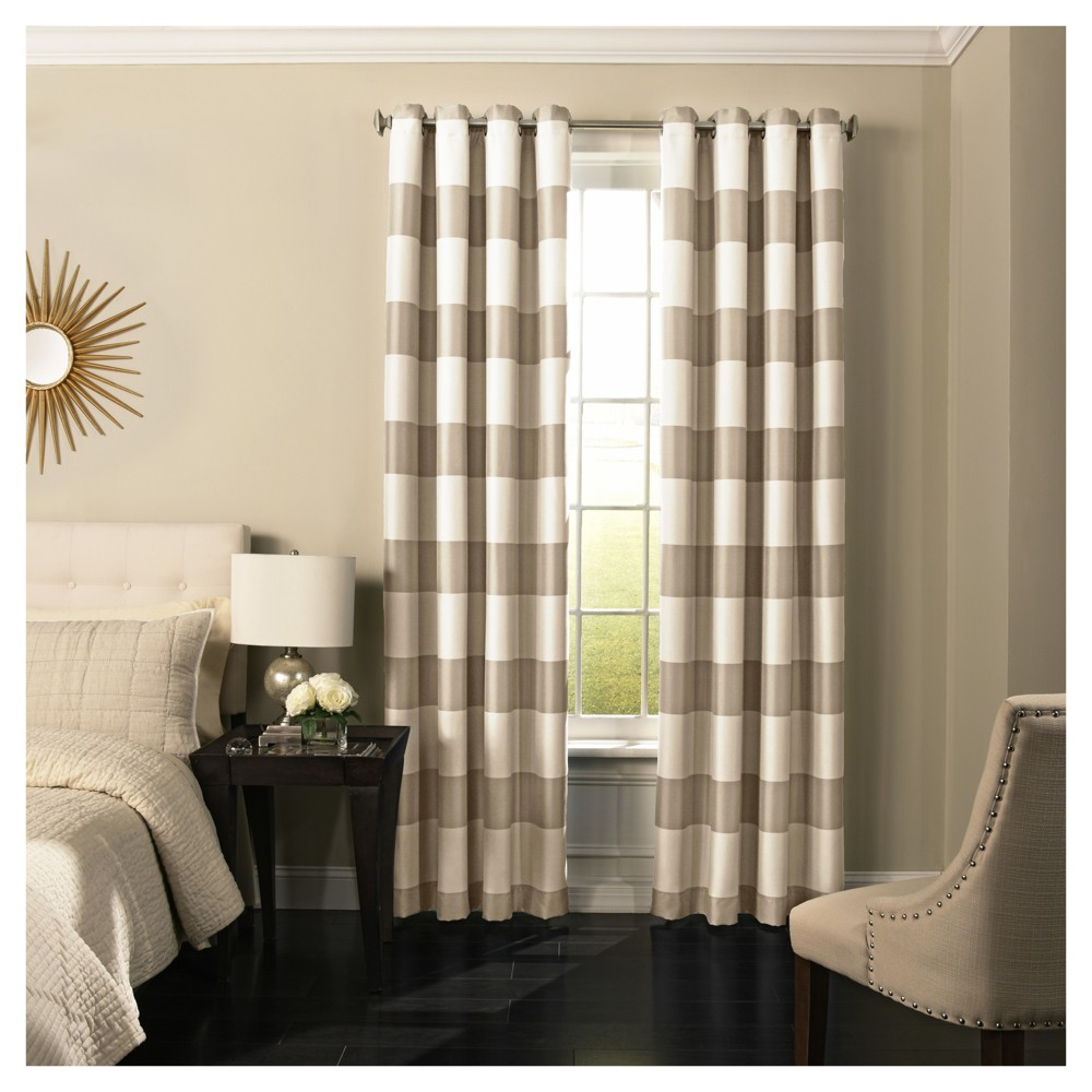 "Image of ""108""""x52"""" Gaultier Blackout Curtain Tan - Beautyrest"""