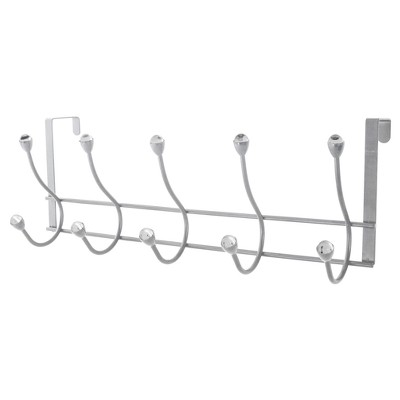 Prissy Over-the-Door 5 Hooks Chrome - Splash Home