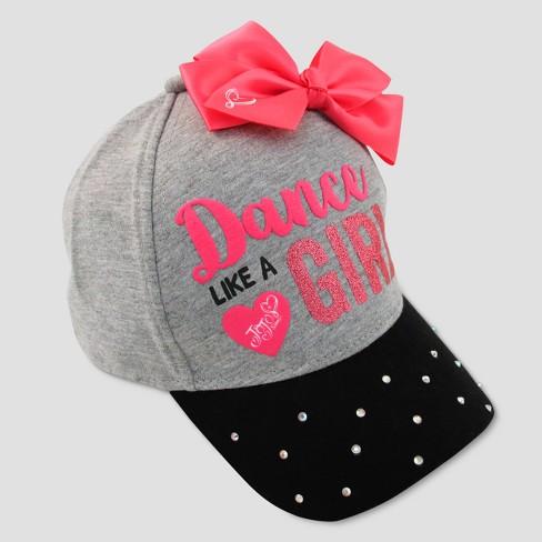 Girls  Nickelodeon JoJo Siwa  Dance Like A Girl  Baseball Cap - Gray Pink    Target de898cf7aed