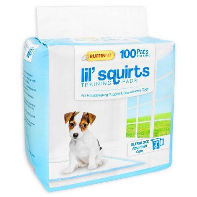 Ruffin' It Lil Squirts Training Dog Pads - 100ct