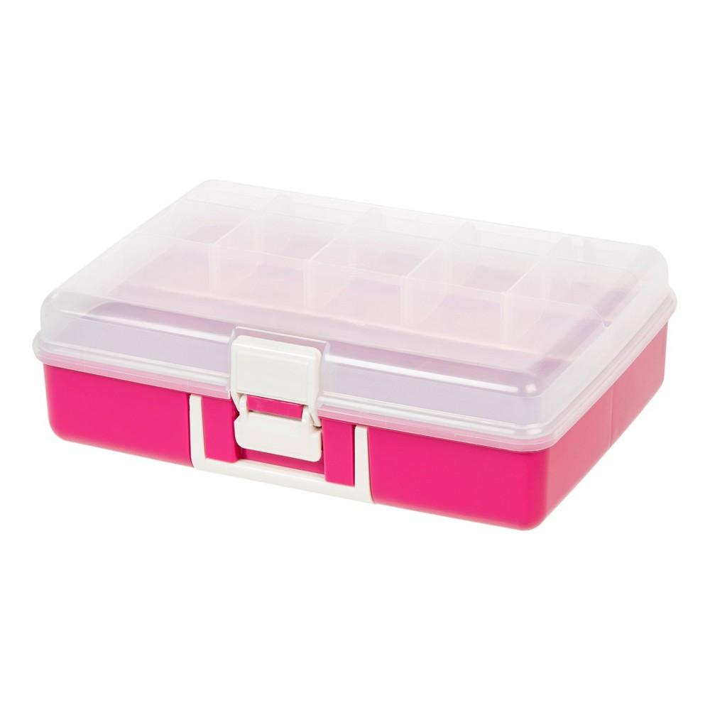 Image of IRIS Medium Embellishment Organizer - Clear/Pink
