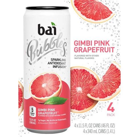 Bai Bubbles Gimbi Pink Grapefruit - 4pk/11.5 fl oz Cans - image 1 of 4