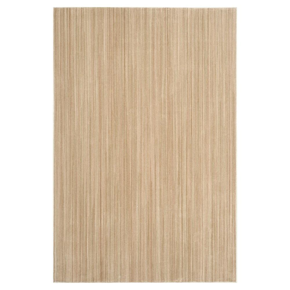 Beige/Green Stripe Loomed Area Rug - (9'X12') - Safavieh