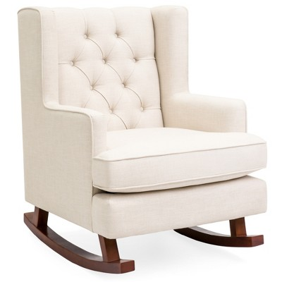 Best Choice Products Rocking Accent Chair	Tufted Upholstered  Wingback for Home	Nursery w/ Wood Frame