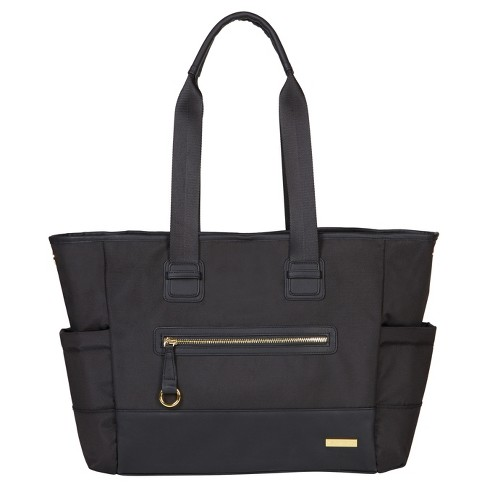 Skip Hop CHELSEA 2-in1 Downtown Chic Diaper Tote - Black - image 1 of 9