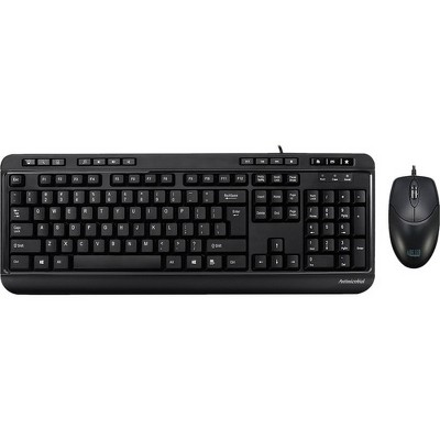 Adesso AKB-132CB - Antimicrobial Multimedia Desktop Keyboard and Mouse - USB Cable 104 Key - English (US) - USB Cable Optical - 1200 dpi