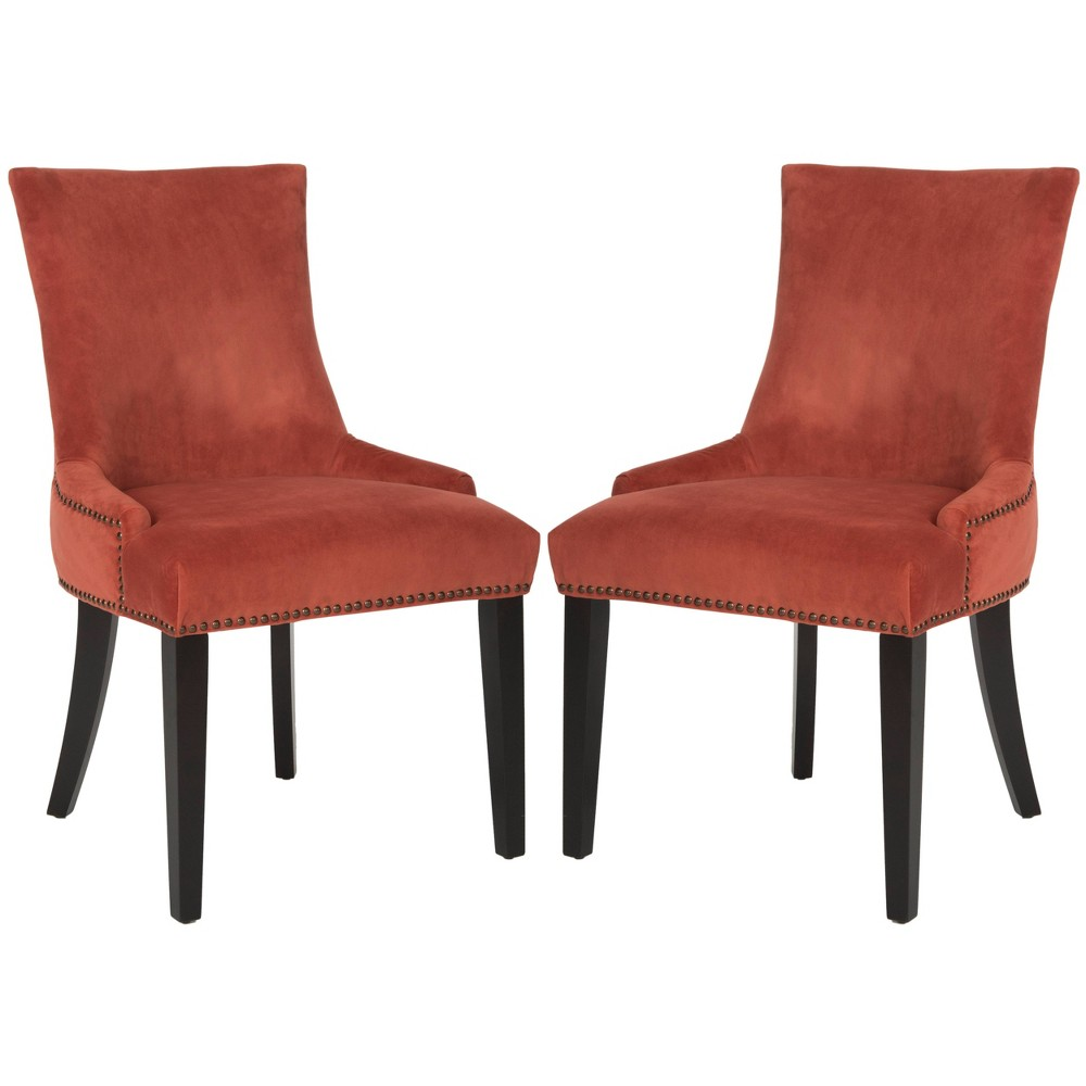 Lester Dining Chair - Rust (Red) (Set of 2) - Safavieh