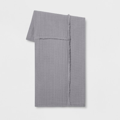 Pieced Cotton Gauze Throw Blanket Gray - Project 62™