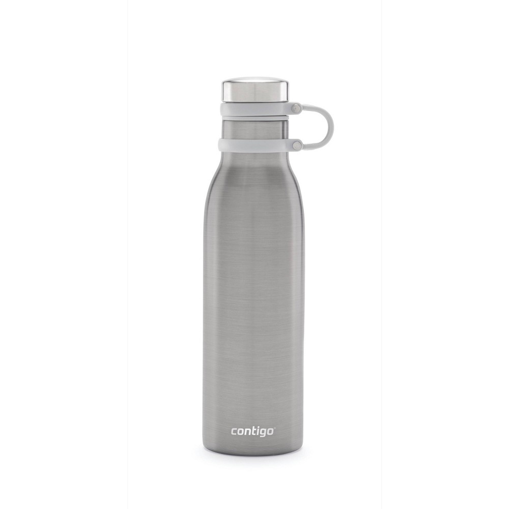 Image of Contigo Couture 20oz Vacuum-Insulated Stainless Steel Thermalock Water Bottle Sake, Solid Gray